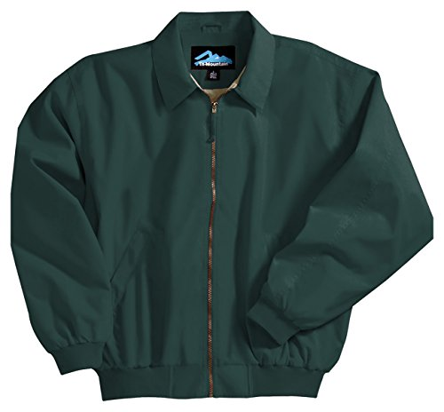 Achiever Microfiber Jacket with Poplin Lining, Color: Forest Green, Size: Small ()