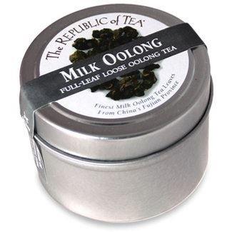 The Republic Of Tea Milk Oolong Full-Leaf Tea Taster Tin, 0.71 Ounces / 10 Cups
