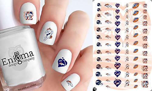 (Broncos Nail Decals (Clear)