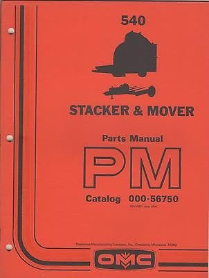1976 OMC OWATONNA STACKER & MOVER CAT # 000-56750 PARTS MANUAL (245) (Stacker Cat)