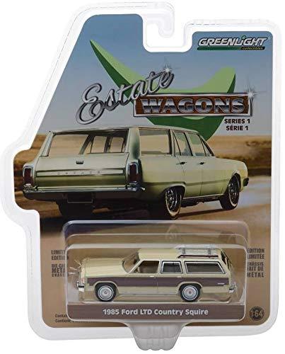 Greenlight 1:64 Estate Wagons シリーズ 1-1985 フォード LTD カントリースクエアー ウッドパネルダイキャストカー付き 29910Fの商品画像