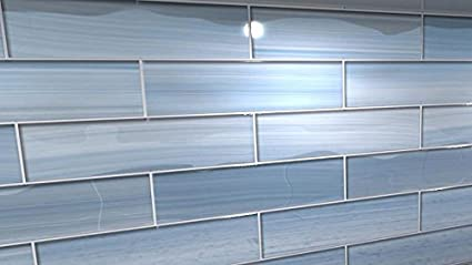 Big Blue Glass tile Perfect for Kitchen Backsplashes and showers, 10 Sq Ft  Box