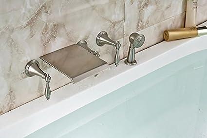 Vasca Da Bagno Montaggio : Rozinsanitary doppia maniglia per bagno in nichel bruhsed per