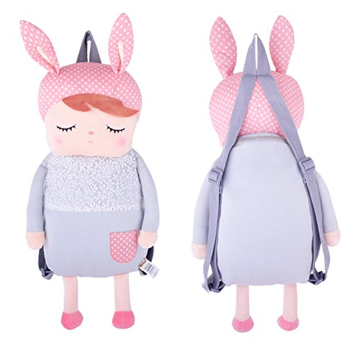 Me Too Cartoon Bunny Girl Kid's Plush Backpack School Shoulder Bags 16''