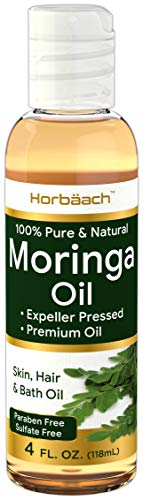 Premium Moringa Oil 4 oz | Paraben Free, Sulfate Free, 100% Pure, Non-GMO | Max Hydration For Hair, Skin and Face | By Horbaach