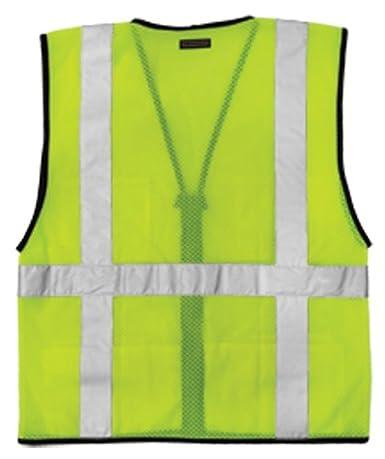 ML Kishigo 1191 Economy Series Ultra Cool Mesh 6 Pocket Vest Fits 4X-Large and 5X-Large Lime