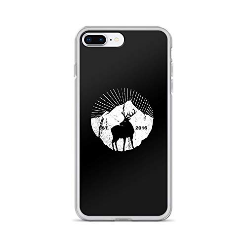 iPhone 7 Plus/8 Plus Case Anti-Scratch Creature Animal Transparent Cases Cover American Mountain Deer Animals Fauna Crystal Clear