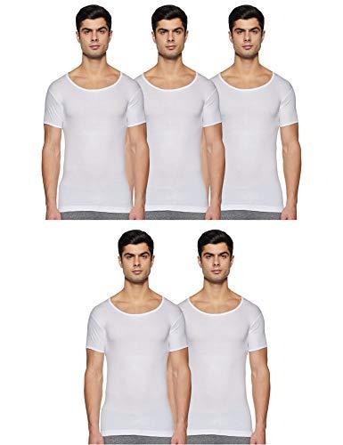 Rupa Jon Men #39;s Plain Vest  Pack of 5