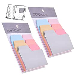 2 Pack6 Color 180 Pieces Divider Sticky Notes Index Tabs Paper
