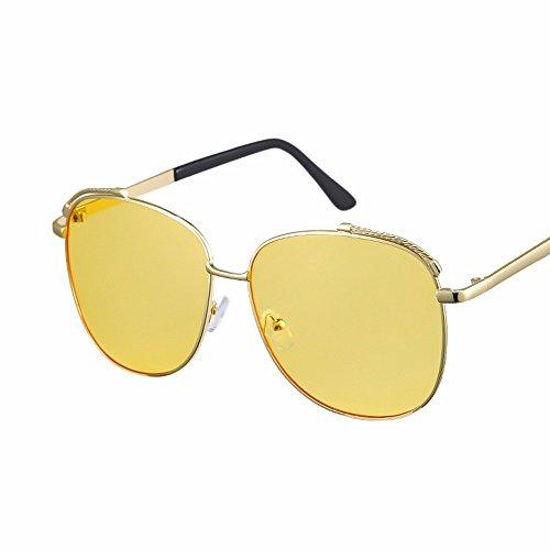 sol de Caja transparente de gafas Amarillo azul de gafas grande Rosa polvo XIAOGEGE sol hembra Z7dUqw7E