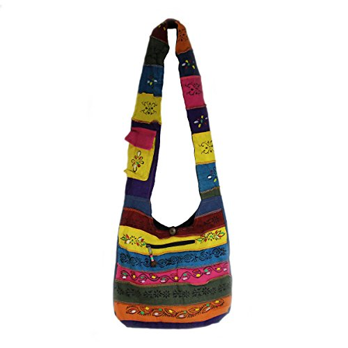 Rising Handcrafted Multi Patch Bag Hobo International Color q8xSwUnqr5