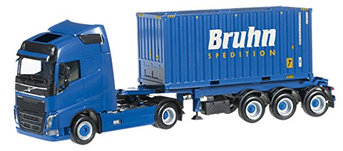 1/87 ボルボ FH GL 20フィート バルク コンテナ セミトレーラー `Bruhn`(ブルー) 303866