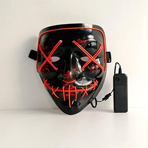 Scary Costumes With El Wire - PINFOX Light Up Led Purge Mask