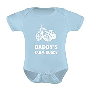 TeeStars   Daddyu0027s Farm Buddy   Cute Farmers Babies Gift Baby Bodysuit  Newborn Aqua