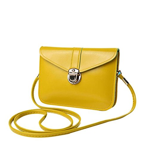 Single Zero Purse Messenger Bag Bluester Yellow Bag Handbag Fashion Leather Phone Shoulder OxwTqYR