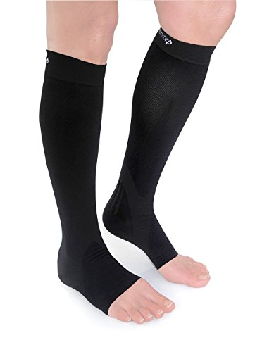- POWERSTEP PF Plantar Fasciitis Support Compression Calf Sleeve Socks (PAIR) For Reducing Arch And Heel Pain MADE IN USA (XL M13+)