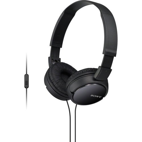Sony Premium Lightweight Extra Bass Stereo Headphones With Universal In-line Microphone and Remote for Apple Iphone/Android Smartphone (Black)