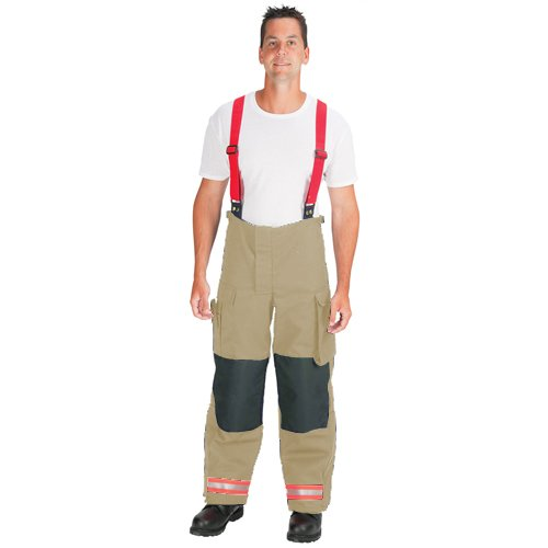 34 Waist Tan with 2 Red//Orange-Silver-Red//Orange Triple Trim 34 Waist 30 Inseam 30 Inseam TOPPS SAFETY EP02R5650-34-30 NOMEX Deluxe EMS Waist Pants