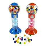DUBBLE BUBBLE SPIRAL GUMBALL MACHINE BANK 10'' w/gumballs
