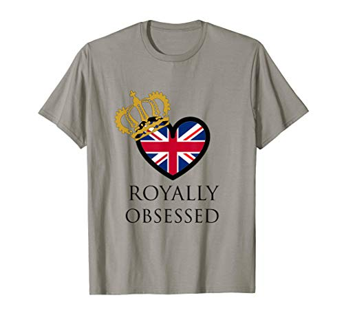(Royally Obsessed Royal Wedding T-Shirt Union Jack with Crown)