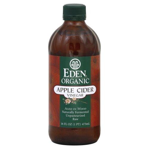 Eden Raw Apple Cider Vinegar Organic 16.0 OZ(Pack of 4) (Apple Cider Vinegar Eden)