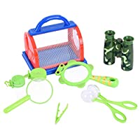C-Easy Nature Bound Bug Catcher Bug Bucket Kit Bug Catcher Kit 8 Piece Bug Catching Set Critter Case Bug Bungalow Insect Catching Kit Toys Critter Cage Bug Catcher Storage for Kids