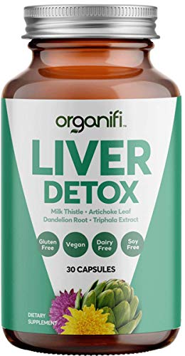 Organifi: Liver Detox – Herbal Liver Detox and Support – 30 Day Supply – Optimal Hormone Balance – Digestive and…