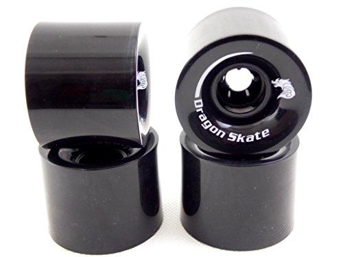 Dragonskate Longboard - Cruiser Wheels, Set, 60 mm (Black)