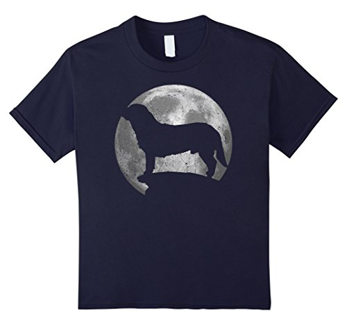 Kids Alpine Dachsbracke Eclipse Full Moon T-shirt Halloween 12 Navy