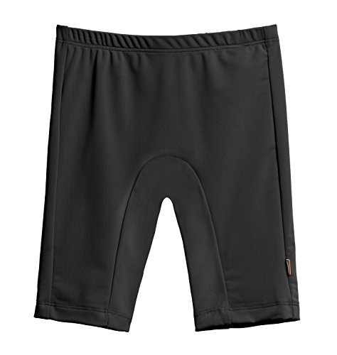 City Threads Big Boys' and Girls' SPF50+ Swim Jammer Swimming Shorts Swim Bottoms Briefs With Sun Protection SPF For Beach Pool or Play, Black, 7 (Best Celebrity Wardrobe Malfunctions)