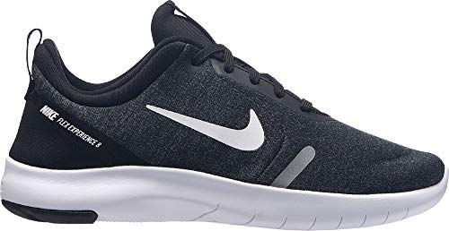 Nike Boy's Flex Experience RN 8 Running Shoe Black/White/Cool Grey/Reflect Silver Size 7 M US
