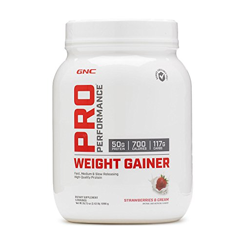 GNC Pro Performance Weight Gainer, Strawberries and Cream, 6 Servings ()