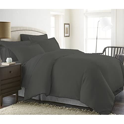 Kotton Culture 300 Thread Count Luxurious 100% Egyptian Cotton Duvet Cover (Duvet Cover with Zipper Closure) By Solid (Queen/Full, Grey) supplier
