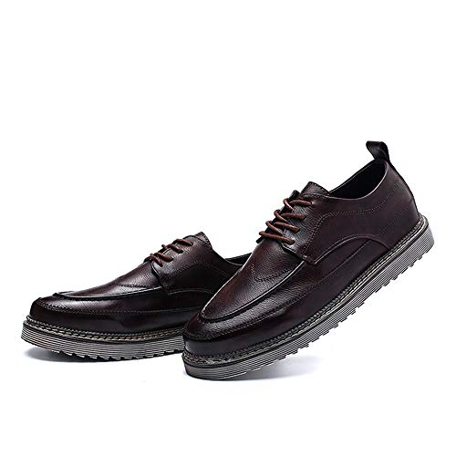 Simple Outsole Scarpe Color Vintage Formal da EU Marrone Uomo business Dimensione stringata Shoes uomo Marrone Casual Oxford New Pelle 44 String FzACp