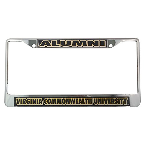 Virginia Commonwealth University License Plate Frame/Tag For Front Back of Car Officially Licensed (Alumni - Metal - Virginia Reno