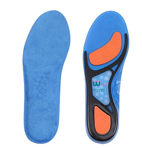 Super Textured Foam Balls (Shoe Inserts For Men And Women - Silicone Gel Cushioned For Shock Support Shoes Insoles - Orthotics For Reducing Pain Relief (Blue, Size L (for Men)))
