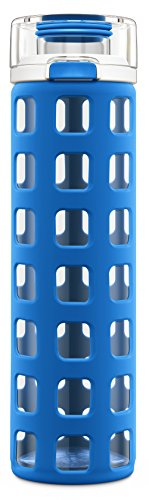 Ello Syndicate 20-Ounce BPA-Free Glass Water Bottle with Fli