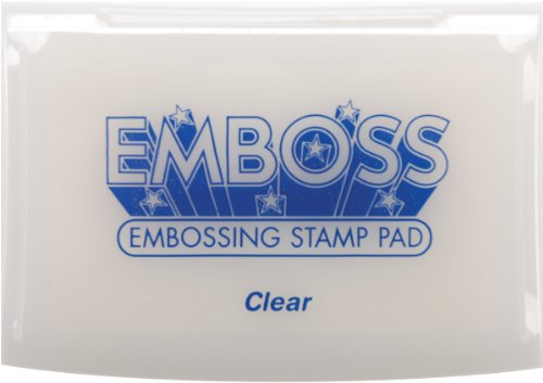 Tsukineko Full-Size Emboss Inkpad, Clear (Perfect Medium Pad Stamp)