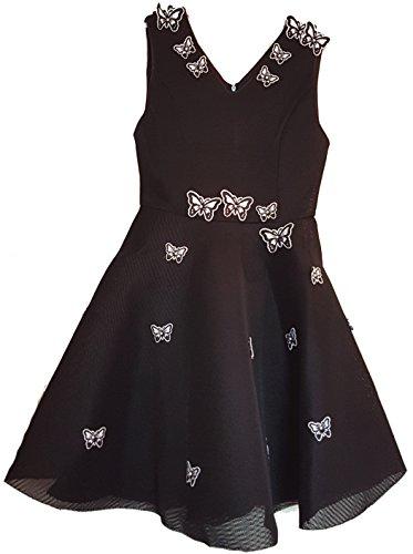 Aimerfeel Pour V Soirée Robe Taille 38 Femmes cou Papillon Belle Noir Bal La Mariée De Design Patineuse 8rX8Op