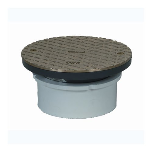 PROFLO PF42809 6'' Brass Cover with 4'' Adjustable Cleanout by ProFlo