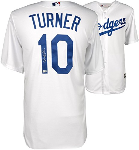 Justin Turner Los Angeles Dodgers Autographed Majestic White Replica Jersey - Fanatics Authentic - Jersey White Dodgers Majestic Replica