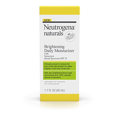 Neutrogena Naturals Brightening Daily Moisturizer With Sunscreen Broad Spectrum SPF 25, 1.7 Fl. Oz Brightening Sunscreen