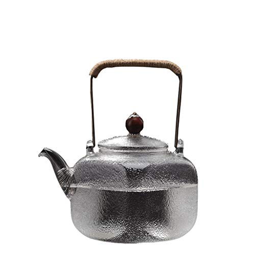 Glass Tea Set Elegant Cup Teapot High Temperature Thickening Teapot Stainless Steel Filter Leak Office Tea Ceremony Pot Home Kettle 700ml Tea Pots