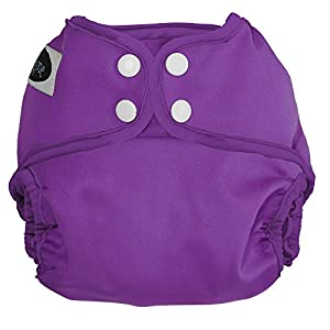 Imagine Baby Products One Size Cloth Diaper Cover, Snap, Amethyst