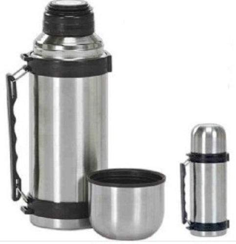 Perfect Vacuum Stainless Steel Insulated Coffee Soup Bottle w. Handles 1 Liter from IA_BIG