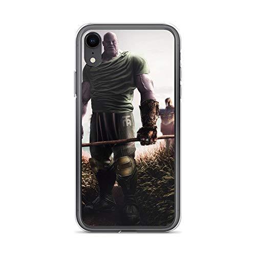 (iPhone XR Pure Anti-Shock Clear Case Thanos Scarecrow Farmer Stan Lee Movie Shield Avengerss Comic Superhero)