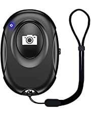 HOGARCOSAS Wireless Bluetooth Camera Remote Shutter for Smartphones Compatible with iPhone /iPad or Any Other Android Cell Phones/Tablet, To Create Amazing Photos /Selfies, Wrist Strap & Battery Included (65ft Sensing Range), Black