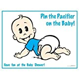 Pin the Pacifier on the Baby Caucasian Boy Baby Shower Game