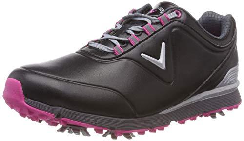 Callaway Women's Lady Mulligan Golf Shoes, (Black/Pink), 5.5 UK