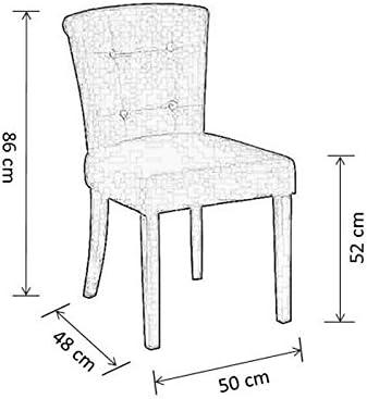 My-Furniture - 1 x Chaise de Salle à Manger Positano, Tapisserie de Haute qualité, capitonnage à Boutons, Anneau métallique au Dos
